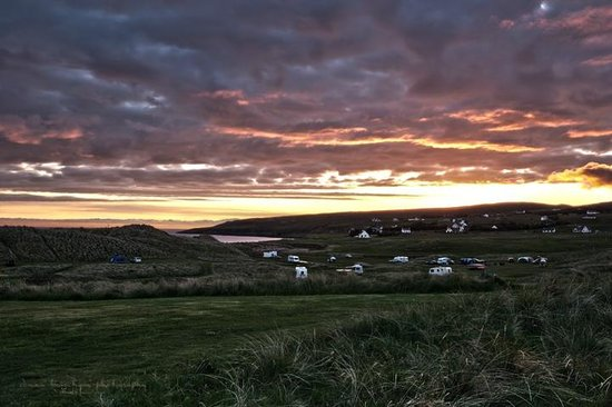 Sands Caravan & Camping Park: One of the amazing sunsets during our trip