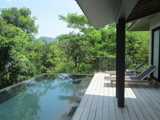 Balcony - Amanoi: Pavilion's back terrace with private pool