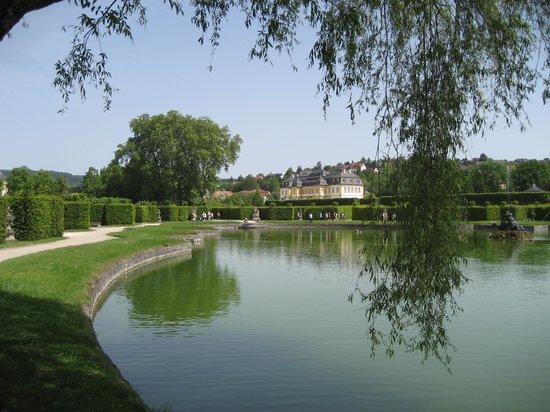 Hofgarten Veitshochheim: Barokhaven, søen