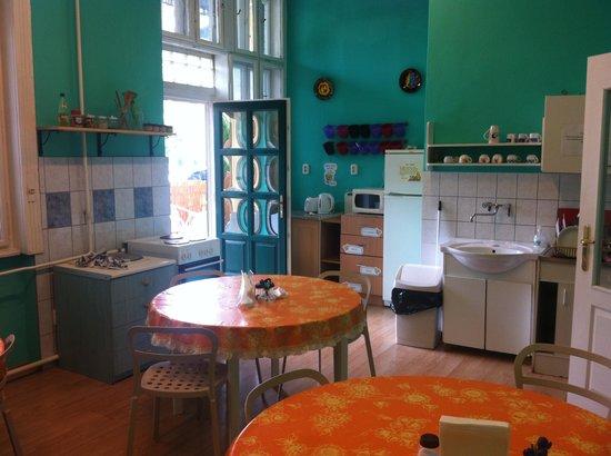 Budapest Budget Hostel: kitchen
