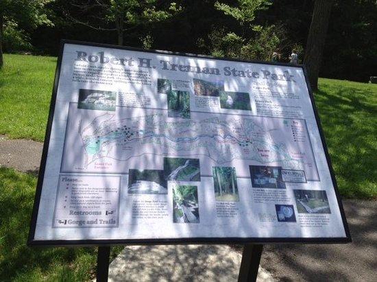 Robert Treman State Park: Info board