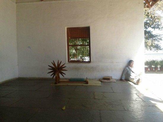 Sabarmati Ashram / Mahatma Gandhi's Home: The outer courtyard