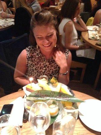 ROKA Canary Wharf: birthday desert