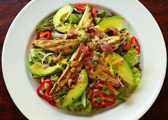 Upstairs at the RipJack Inn: Chicken Club Salad