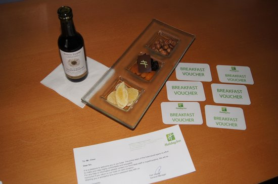 Holiday Inn Prague Congress Centre : Here is the Breakfast coupons