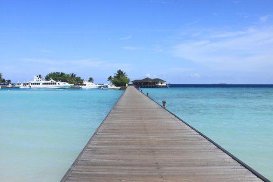 Paradise Island Resort & Spa : Walk thru the Ocean to reach the Island Resort