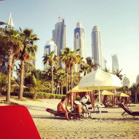 The Palace at One&Only Royal Mirage Dubai: View from the beach