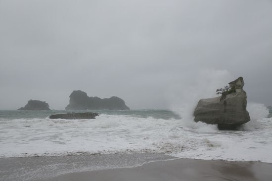 Cathedral Cove Walk: View from the beach