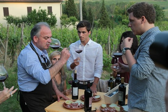 Tenuta Torciano : tuscan wine tasting Don't let this happen to you folks  when you are good  accompanied !