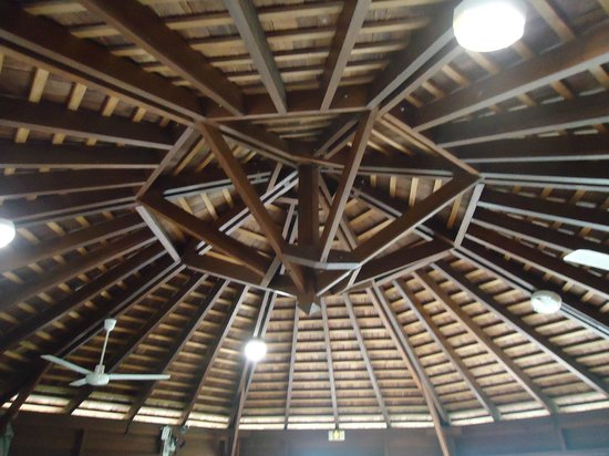 Le Samana: Plafond du carbet petit déjeuner