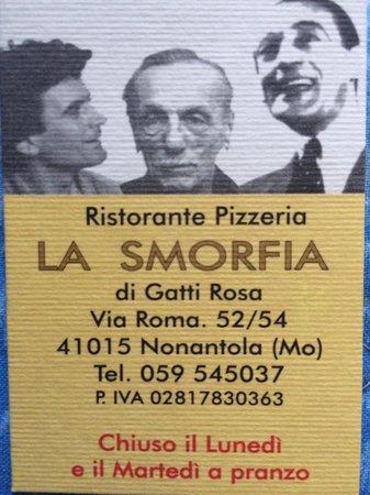 LA SMORFIA : biglietto da visita