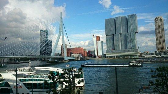 Thon Hotel Rotterdam: Uitzicht vanaf de kamer