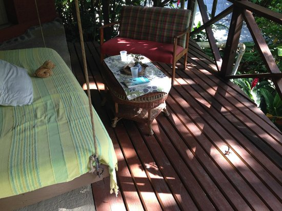 Cocoa Cottages: vue terrasse