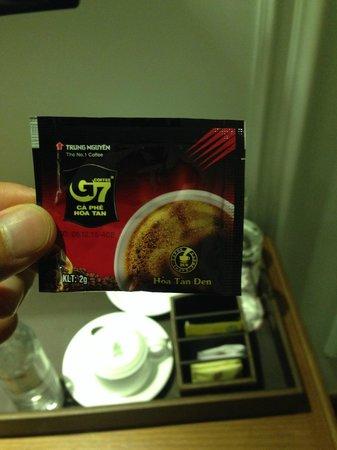Hanoi Pearl Hotel: ベトナムコーヒー。毎日飲んだ。