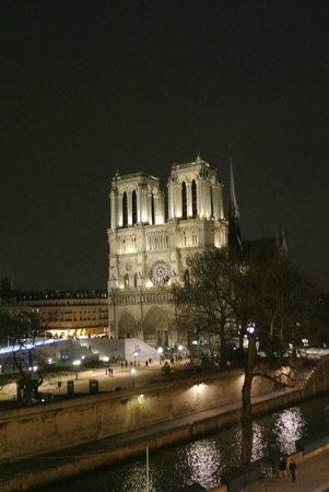 Hotel le Notre Dame: Vue sur Notre Dame