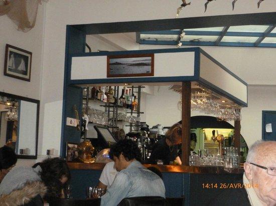 Les Fontaines : Vue du Bar au restaurant