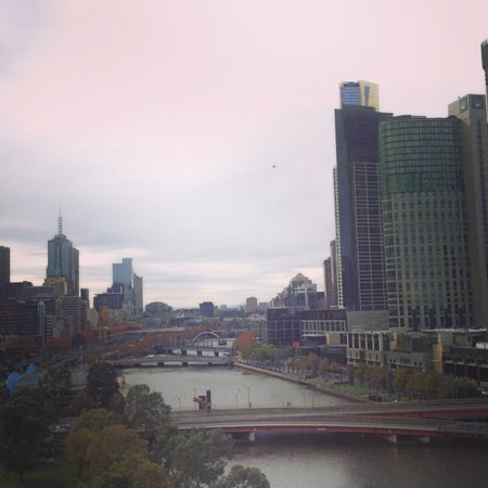 Crowne Plaza Melbourne: View from River View room, level 9
