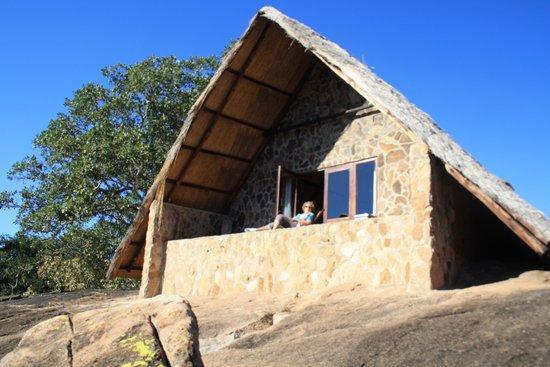 Big Cave Camp: vue du bungalow