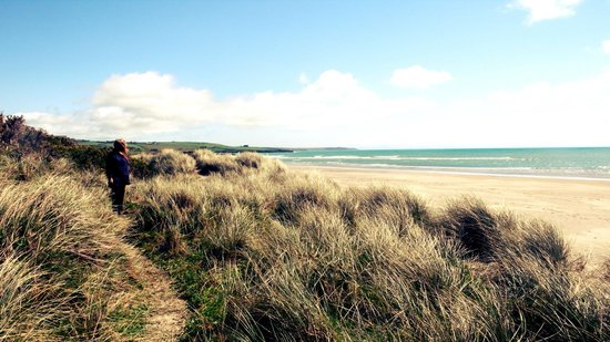 Inchydoney Beach: walking path