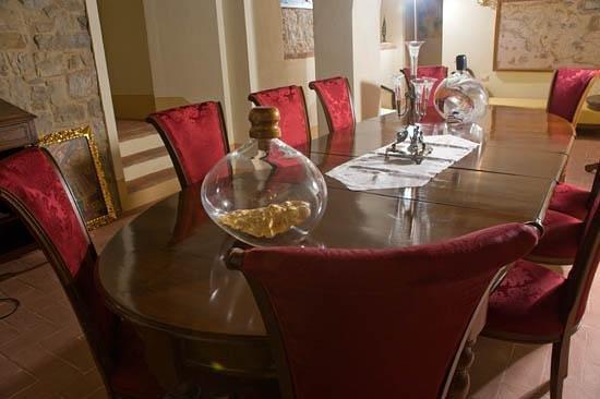 Castellare De' Noveschi: la sala della colazione