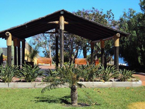 Hotel Rural Finca Salamanca : Couvert pour les fêtes dans le jardin