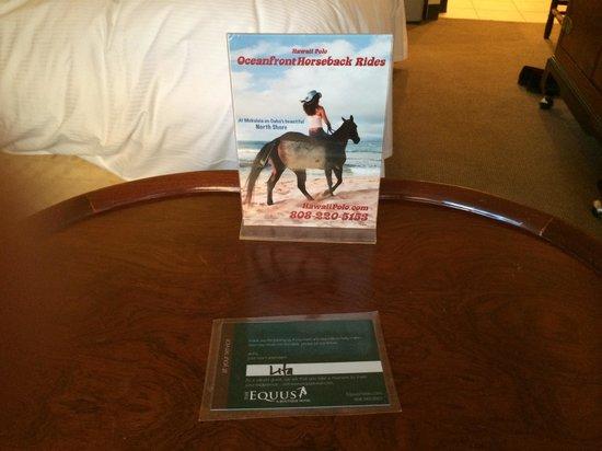 The Equus Hotel : ルーム清掃担当者の名前が入っているタグです