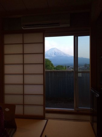 Fuji Lake Hotel: the view from our Japanese room