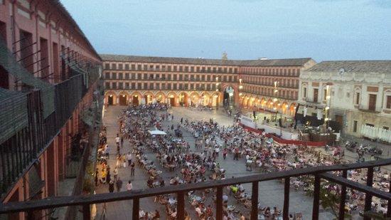Plaza de la Corredera: desde la rerraza de la habitación