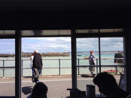 The Lifeboat Inn: View from lifeboat inn
