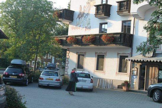 Hotel zur Post: muurschildering