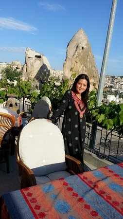 Sarihan Cave Hotel : at the terrace