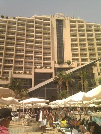Dan Eilat : Вид на отель с набережной