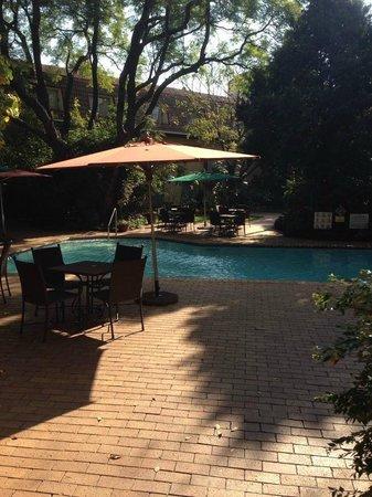 Protea Hotel by Marriott Johannesburg Balalaika Sandton: Balalaika Sandton Garden and Pool