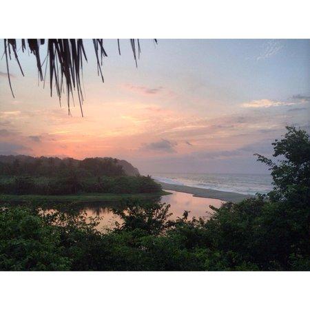 Finca Barlovento Cabana & Maloka : View from Maloka hammock at sunset