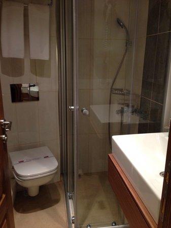Mr. Bird Hotel: Small bathroom
