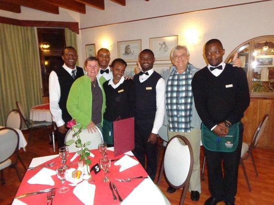 Hotel Deutsches Haus : Le personnel du restaurant avec le patron