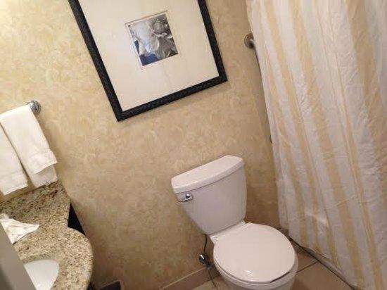 Hilton Garden Inn Lakewood: Bathroom in the room (so clean!)