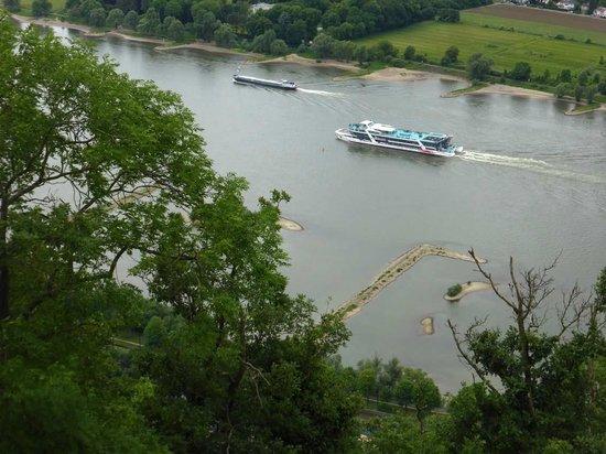 Drachenfels: Rhein aufwärts