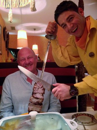 Belek, Turkey: Funny staff at the Rodizio meat resturant
