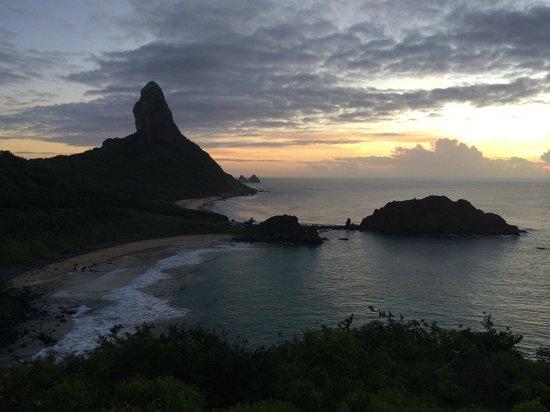 Fortaleza N S dos Remedios : Pôr-do-sol no Forte Nossa Senhora dos Remédios