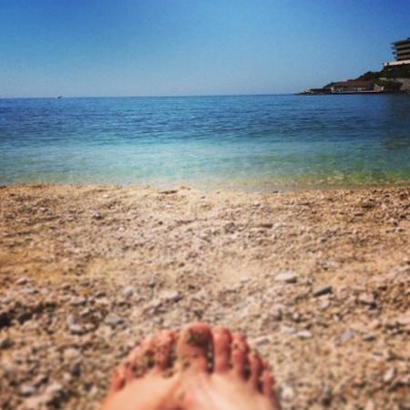 Kupari Beach (a little ways north of Srebreno beach, but similar style)