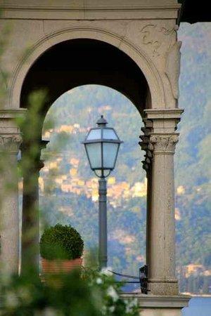 Grand Hotel Cadenabbia: from the terrace towards Varenna