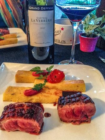Duck Breast and Polenta at Le Mas des Romarins