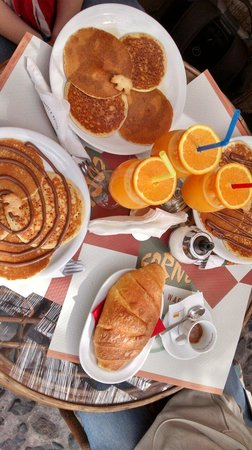 Our Corner: Colazione con pancake e spremuta ::P