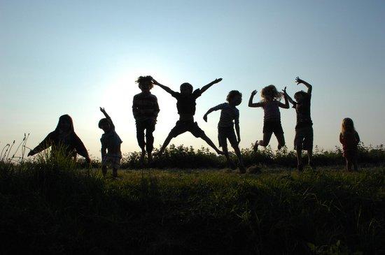 Nethergong Nurseries Camping: The kids having fun!