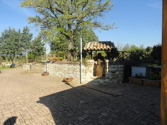Villa di Monterosso: Esterno spazio giardino relax