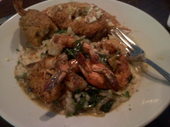 Pappadeaux Seafood Kitchen : Shrimp & Scallop Riscotto & Extra from other plates!