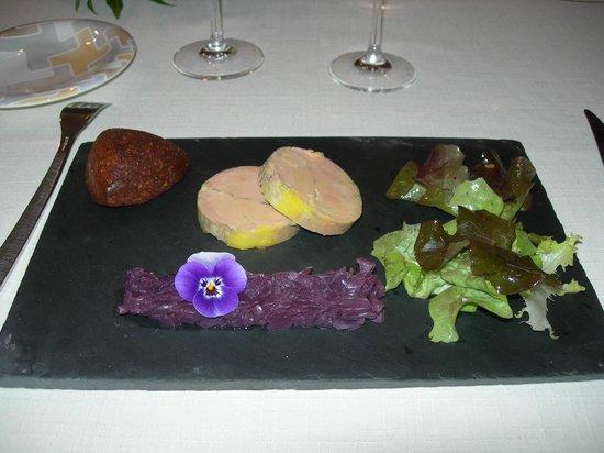 Restaurant Loic Picamal: Le foie gras et son accompagnement