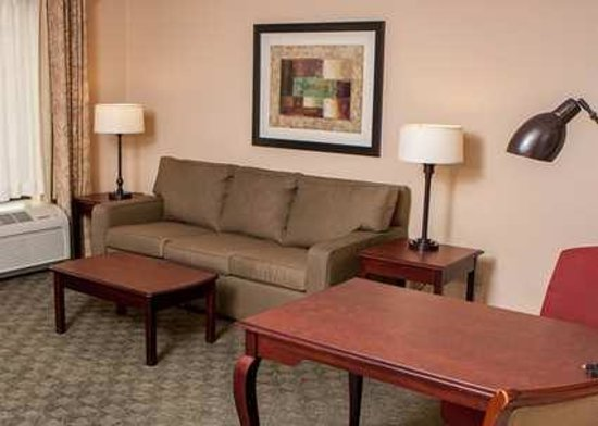 Hampton Inn and Suites Munster: Relax on the comfortable sofa or catch up on work in the desk area.