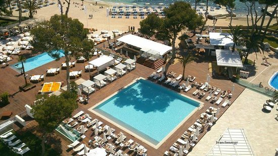 ME Mallorca: view of pool from our room